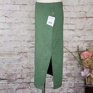Free People Skirts - Free People Green Pencil Jersey Knit Skirt S NWT